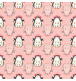 seamless pattern with hand drawn cute penguins vector image