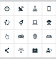 set of simple hitech icons vector image vector image