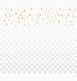 shiny golden confetti vector image vector image