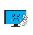 sick computer sore pc emoji monitor in bandage vector image vector image