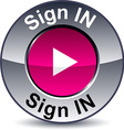 Sign in round button vector image vector image