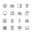 simple set symbols business office and work place vector image vector image