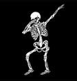 skeleton human dabbing vector image