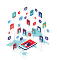 social network and technology concept modern flat vector image vector image