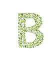 Spring green leaves eco letter B vector image vector image