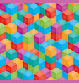 stack of colorful baby blocks seamless 3d vector image vector image
