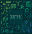 stem concept outline colored frame vector image vector image