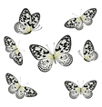 Stylized Butterflies Flying vector image vector image