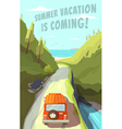 Summer vacation is coming vector image vector image