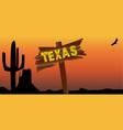 texas border sign vector image vector image