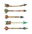 tribal arrows vector image vector image