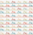 Vintage retro bicycle background vector image vector image