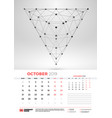 wall calendar template for october 2019 with vector image vector image