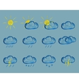 Weather Felt Pen Drawing Icons vector image