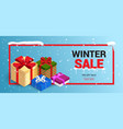 winter christmas sale banner vector image