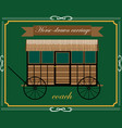 wooden horse carriage vector image vector image