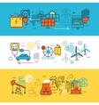 Energy Sources Line Banner Set vector image