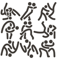 wrestling freestyle icon vector image