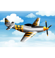 A fighter plane vector image vector image
