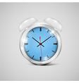 a realistic clock icon vector image vector image