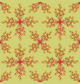 abstract textured floral seamless pattern vector image