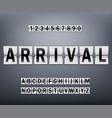 alphabet on scoreboard set black letters vector image vector image