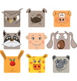 Animal icons cartoon vector image