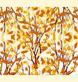 autumn tree fall leaves background vector image
