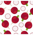 beet seamless pattern natural healthy vegetable vector image vector image