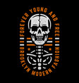 bizarre dead skull vector image vector image