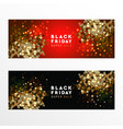 black friday super sale web banners vector image vector image