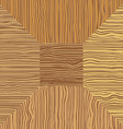 Brown wood Mosaic The square geometric pattern vector image