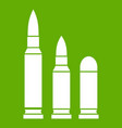 bullets icon green vector image vector image