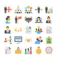 business flat colored icons 11 vector image vector image