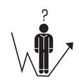 business question businessman growth line black vector image vector image