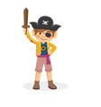cartoon of children pirate vector image vector image