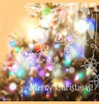christmas blurred background for design vector image vector image