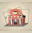 coffee shop retro store styhle vector image vector image