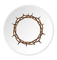 crown of thorns icon circle vector image vector image