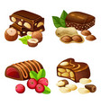 dark and milk chocolate candies set vector image