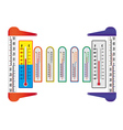 different thermometers vector image