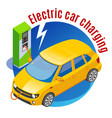 electromobile charging station background vector image vector image