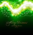 Elegant Lime Green Christmas Background vector image