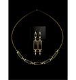 Elegant necklace set vector image vector image