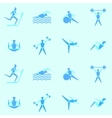 Endless background on a theme sports vector image vector image