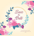 flowers wedding save date flowers leaves vector image vector image