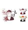 fragmented dot halftone farmer icon vector image vector image