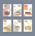 Fresh bread set of banners Baking Private bakery vector image vector image