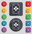 game cards icon sign A set of 12 colored buttons vector image vector image