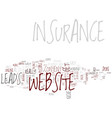 good insurance website content text background vector image vector image
